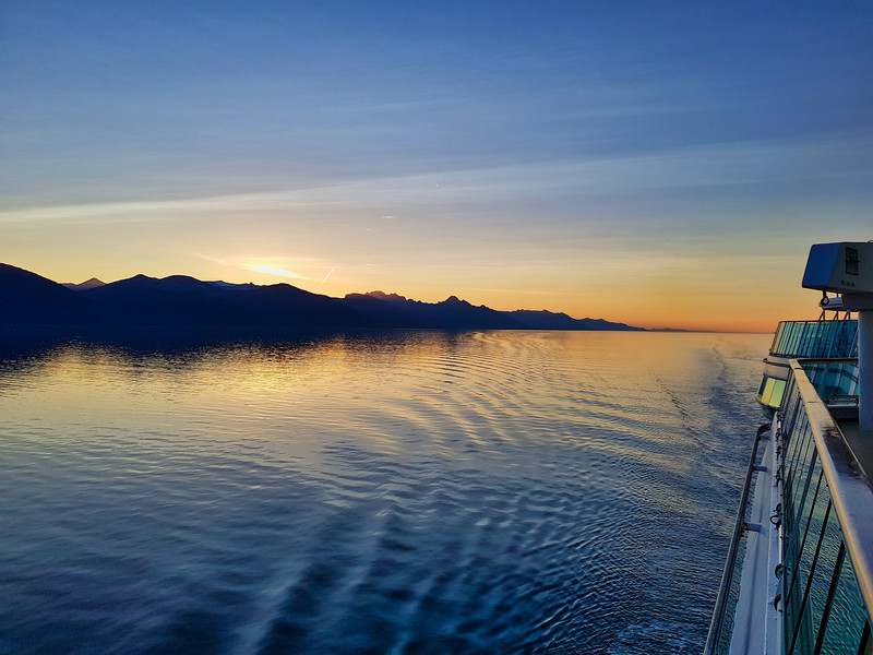 Sunset from a Cruise in Alaska