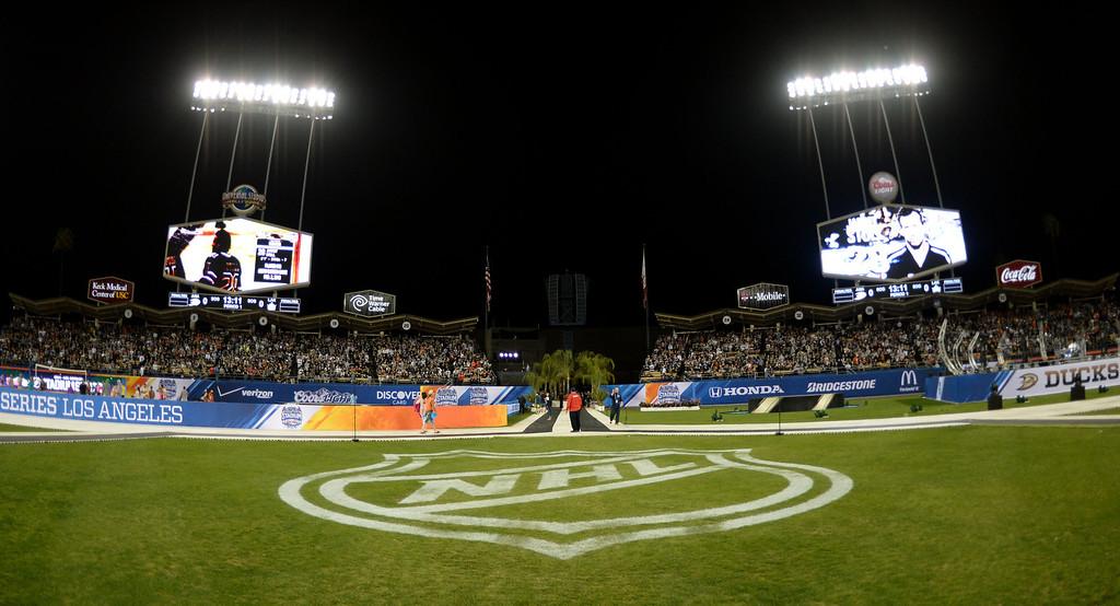 . Anaheim Ducks vs. Los Angeles Kings in the inaugural NHL Stadium Series game at Dodger Stadium in Los Angeles on Saturday, Jan. 25, 2014. (Keith Birmingham Pasadena Star-News)
