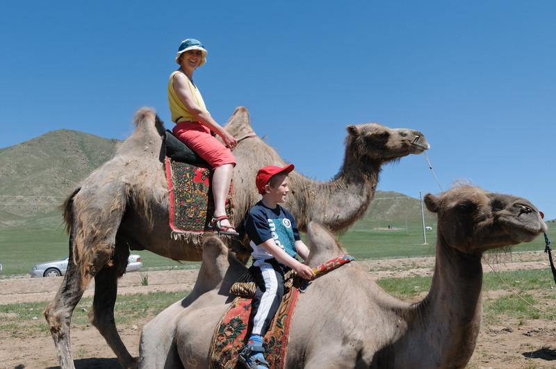 Kamelreiten stand auch auf dem Programm.