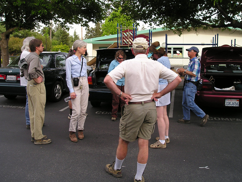 Meeting in the parking lot at a school about .6 miles from Rancho San Antonio. Jack, Karin, Barbara, Max, Paula, William