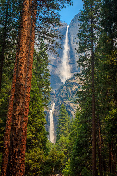 Both Upper and Lower Yosemite Falls