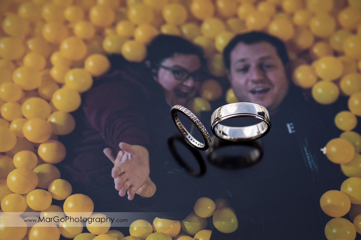 wedding rings on couple photo at Livermore Garre Vineyard and Winery