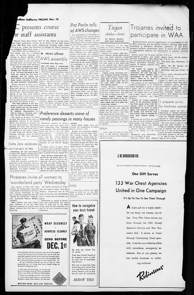 The Trojan, Vol. 36, No. 4, November 10, 1944