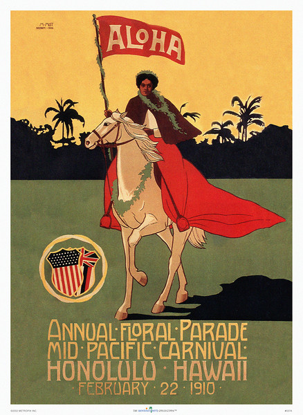 037: Mid Pacific Carnival Festival Poster -- 1910