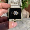 1.97ctw Antique Cluster Ring, GIA G SI2 60