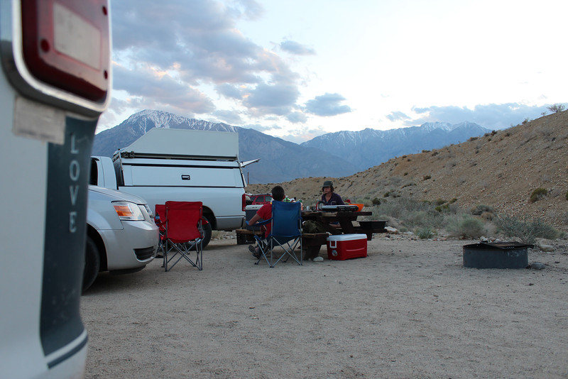 Relaxing at Camp in Bishop Photo By Chris Pegelo