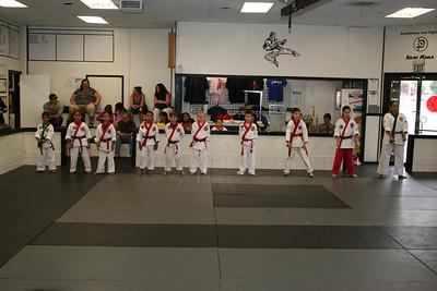 August 28, 2010 Color Belt Testing