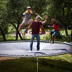 Trampoline Fun -- Evan's Home