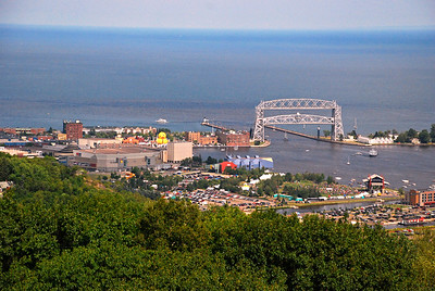2019 08 11: Duluth, MN, Enger Tower Overlook (Duck, Bluesfest, Ships)