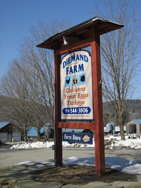 Diemand Farm sign