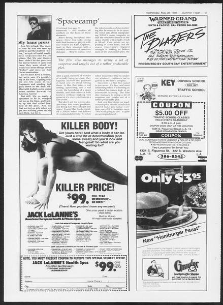 Summer Trojan, Vol. 101, No. 2, May 28, 1986