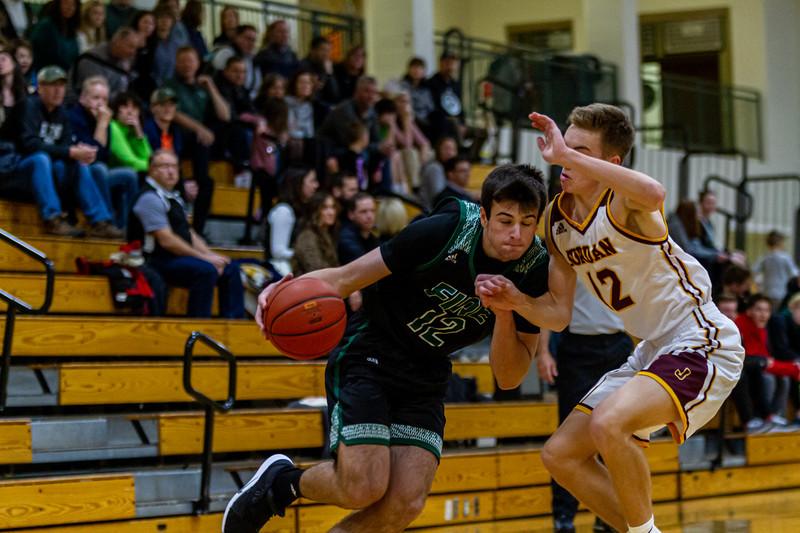 Holy Family Varsity Boys Basketball vs. Jordan, 1/23/20: Jake Kirsch '21 (12)