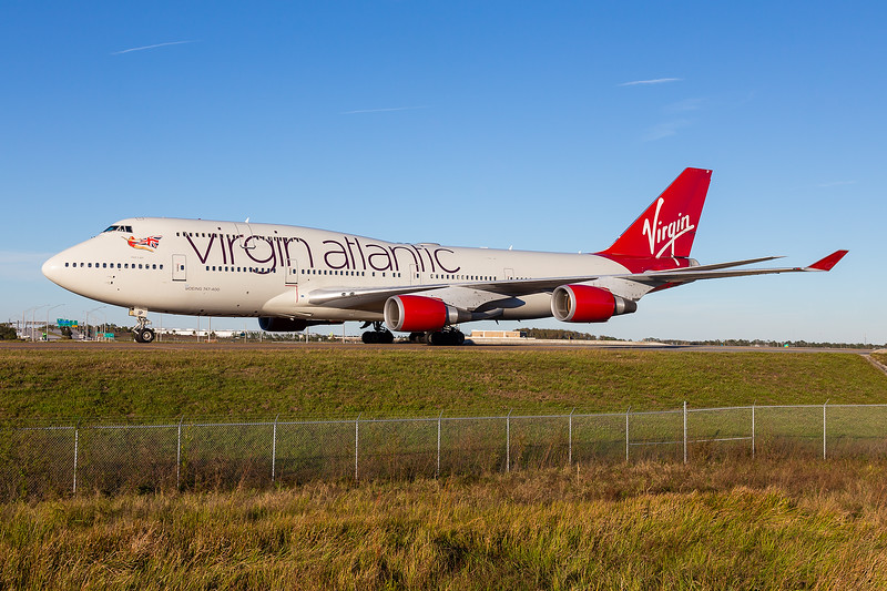 Virgin Atlantic 747-400 - G-VLIP - MCO