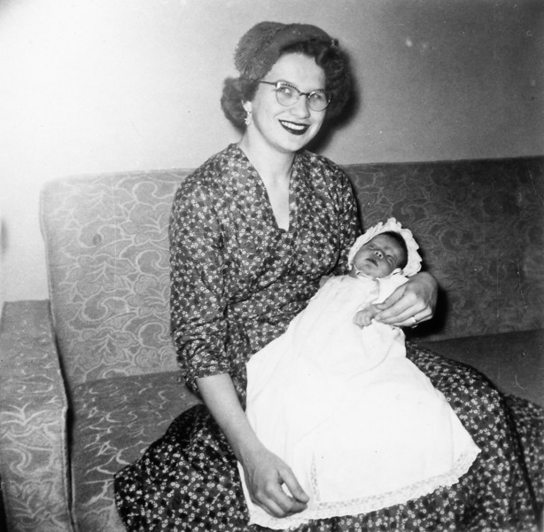 Maria with Jeanne March 1955