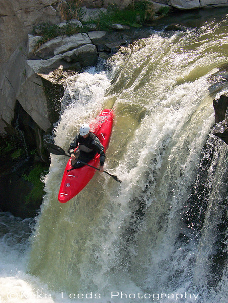 Paddler Micah Kneidl on Deep Creek near Buhl and Hagerman Idaho.