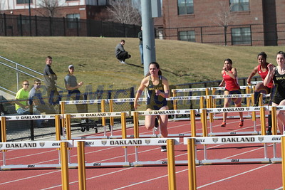 100M Hurdles Women - 2017 Oakland vs Detroit Mercy Dual Meet