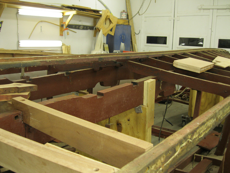 Port rear view of next two frames removed so new ones can made and installed.