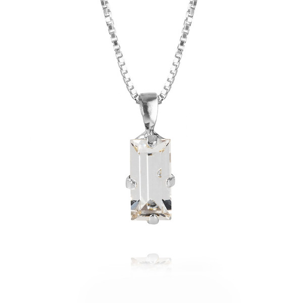 Baguette Necklace / Crystal Rhodium