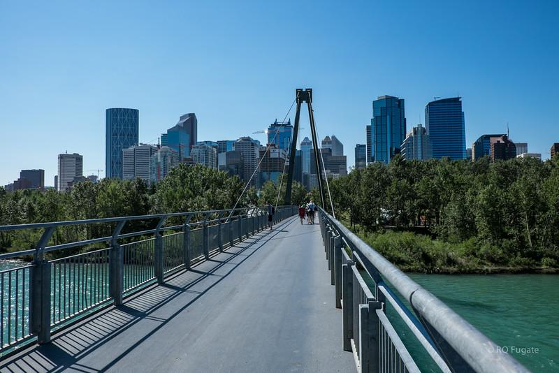 Footbridge across the Bow River.