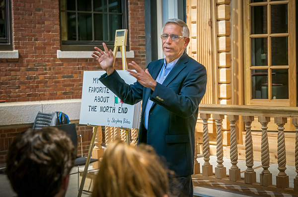 Author Stephen Puleo at North End Historical Society