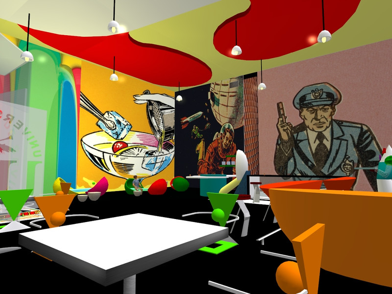 "Javier Losada, ""Café-Restaurante Pop Art"""