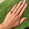 1.15ctw Emerald Cut Diamond Trilogy Ring 17