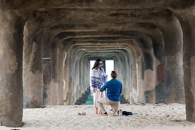 Callum & Neha Proposal - Manhattan Beach, CA
