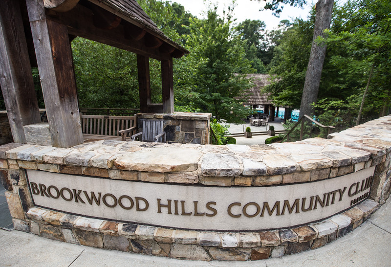 The Brookwood Hills neighborhood is east of Peachtree Road and north of I-85.  The historic district runs along Wakefield Drive where the Community Club has a large swimming pool and park.  (Jenni Girtman/ Atlanta Event Photography)