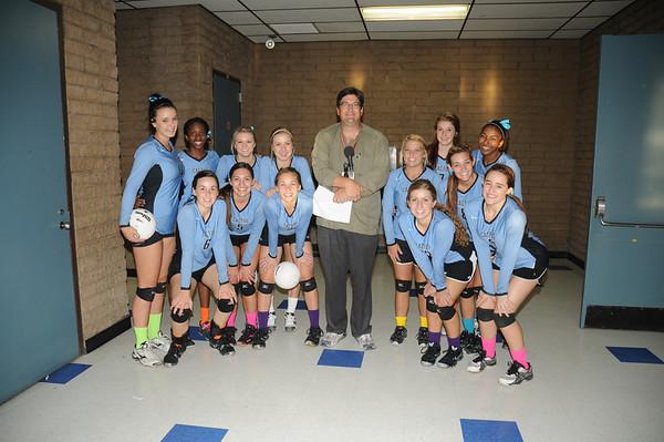 Mr Johnson with Varsity Team - 9-5-12