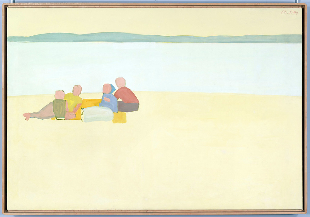 ". �Lincolnville Beach� is a 1956 oil-on-canvas work by Alex Katz. ""Brand-New & Terrific: Alex Katz in the 1950s\"" continues through Aug. 6. For more information, visit <a href=\""http://clevelandart.org/\"">clevelandart.org</a>."