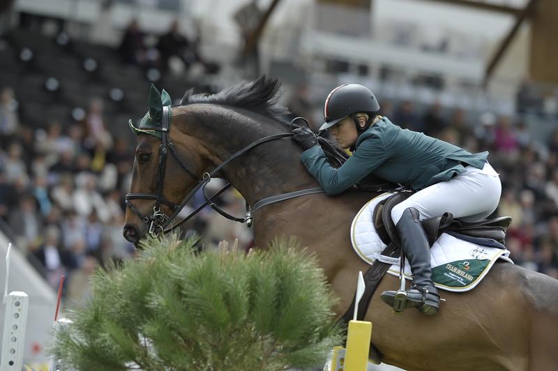 JUMPING : JessicaKUERTEN sur Vincente COUPE DES NATIONS 2012 -  CSIO DE LA BAULE 2012 - PHOTO : © CHRISTOPHE BRICOT