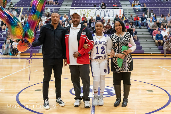 Broughton basketball senior night and Coach Farrell appreciation. February 15, 2019. 750_7410