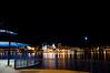 Peoria IL Skyline at Night firework in background