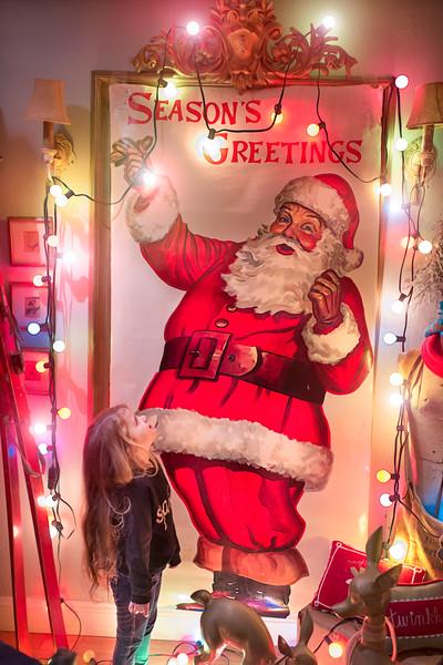 Isabella and The Santa Sign