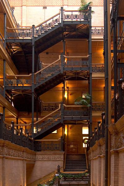 Bradbury Building  Wikipedia Entry: http://en.wikipedia.org/wiki/Bradbury_Building