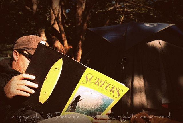 surfer's journal. photo by desiree east