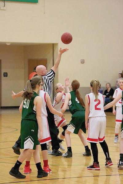 WMS 7/8 Girls Basketball 020318 @ Mulvane MS