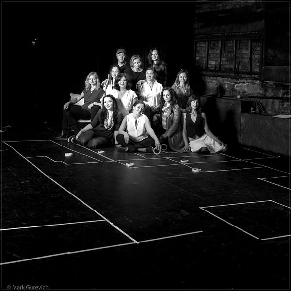 Schema - cast in rehearsal