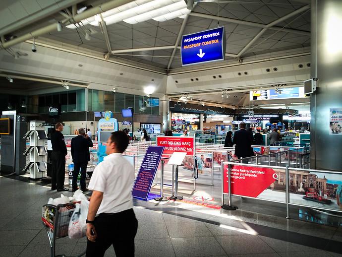 istanbul airport passport control