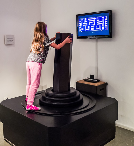 Giant joystick in Computerspielemuseum, Berlin