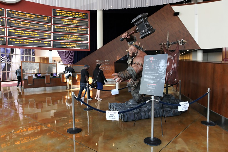 """The """"Warcraft"""" installation at ArcLight Hollywood"""