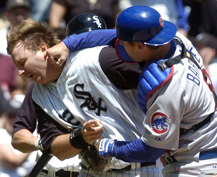 ". <p>10. (tie) A.J. PIERZYNSKI <p>Could add punch to the Twins� lineup � correction � could add punch AT the Twins� lineup. (unranked) <p><b><a href=\'http://www.cbssports.com/mlb/writer/jon-heyman/24223934/twins-talking-to-aj-pierzynski-about-a-return-to-minnesota\' target=""_blank\""> HUH?</a></b> <p>    (AP Photo/Daily Southtown, David Banks)"