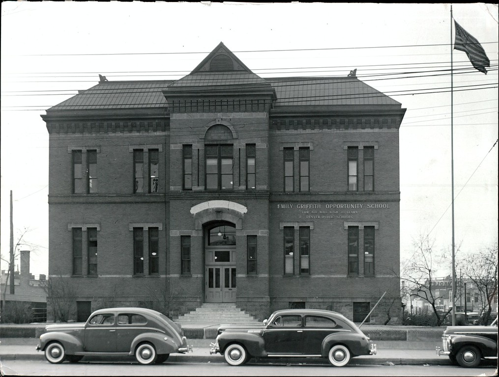 . Emily Griffith Opportunity School. Denver Post Library photo archive