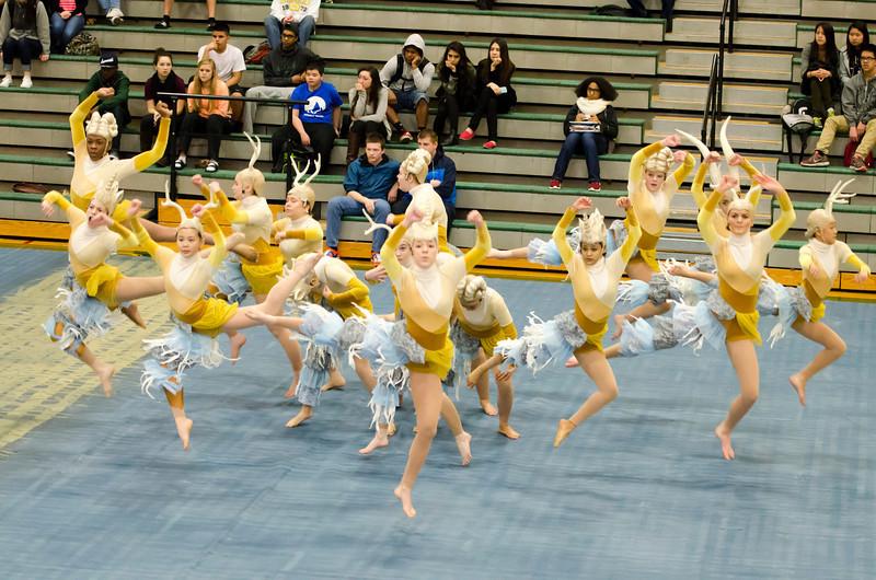 PHS Elite  dance team Assembly 03-07-14