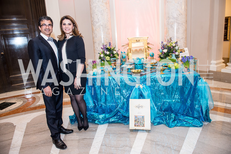 Dr. and Mrs. Jamal Youseffi, Iranian-American Nowruz Reception, Washington, DC, Carnegie Institute of Science, March 15, 2018.  Photo by Ben Droz.