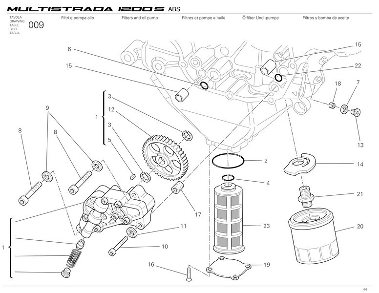 Ducati Multistrada 1200 - oil pump and filters  Multistrada 1200 / 1200S 'How to & FAQs'