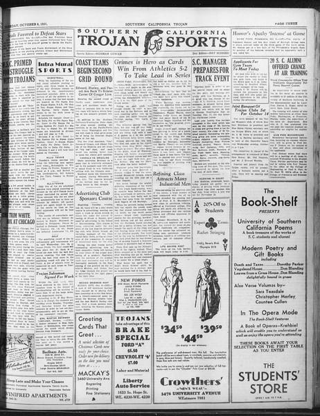 Daily Trojan, Vol. 23, No. 18, October 06, 1931