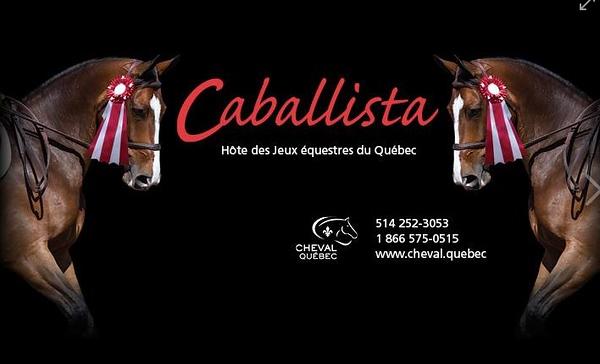 Caballista - Ribbons- Jeux équestres du Québec 2018