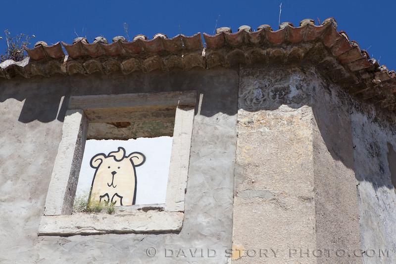 Back wall hamster. Lisbon, Portual.