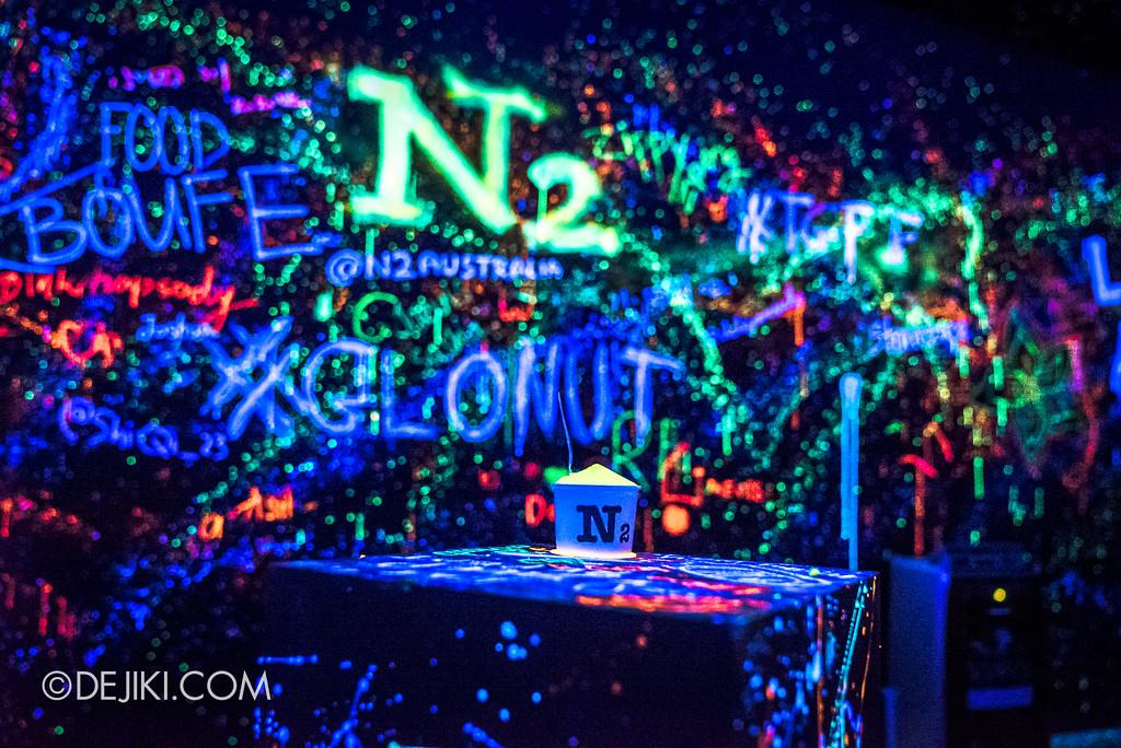 The Great Food Festival RWS - Rollin' Sweet Times / GLO room with glowing N2 Extreme Gelato Yuzu